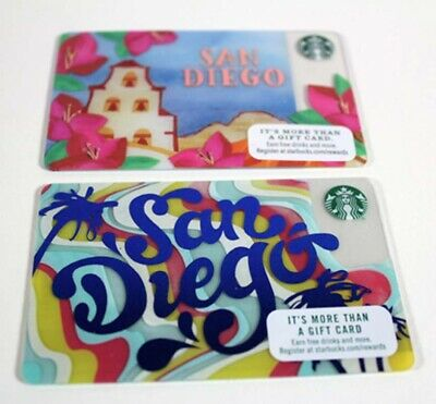 Starbucks San Diego Card Set of 2 Cards Mission California Limited Edition New