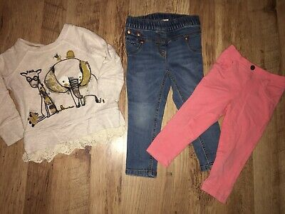 Bundle Of Next Girls Jumper, Jeans Leggings 12-18 Months Great Condition