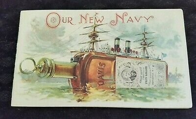 Old Ad Booklet OUR NAVY Perry Davis Vegetable Pain Killer Quack Medicine Ships