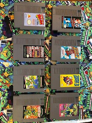 Nintendo Nes Rare Game Lot Super Mario 2 3 Battletoads Boy & Blob Tmnt Turtles
