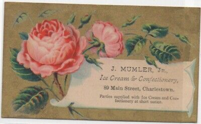 Mumler Ice Cream Charlestown MA Antique Victorian Trade Cards Advertising
