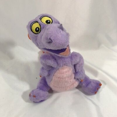 Walt Disney World Plush FIGMENT Disneyland Toy Dragon Purple Stuffed Animal 9""