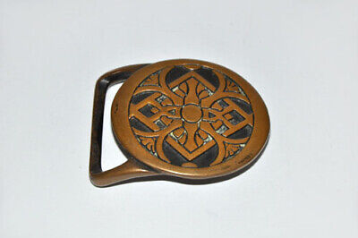 """Tech Ether Guild Inc. '75 Solid Brass Belt Buckle """"Rays"""" Vintage Abstract Art"""