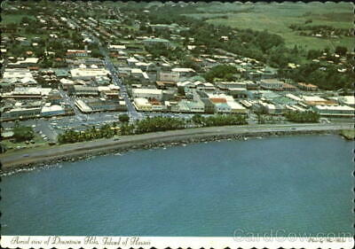 Aerial View Of Downtown Hilo Hawaii County Postcard WW Distributors Ltd. Vintage