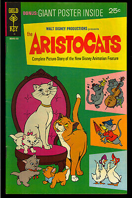 The Aristocats #1 (with Poster) High Grade Walt Disney Movie Comic 1970 VF-
