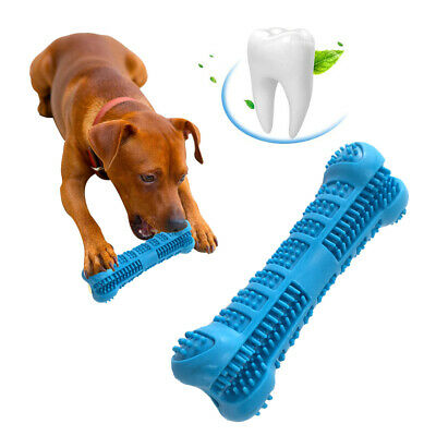 Pet Dog Toothbrush Brushing Chew Toy Stick Teeth Cleaning Oral Care Silicone ZH8