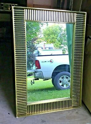 Vintage Antique Style Hollywood Regency Hanging Wall Mirror
