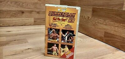 🌟WWF - Summerslam 89'🌟WWE VHS video Silver Vision🌟Video🌟