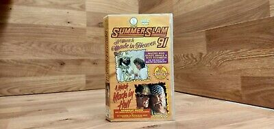 🌟WWF - Summerslam 91'🌟WWE VHS video Silver Vision🌟Video🌟