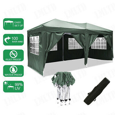 3x6m Gazebo Marquee Party Tent With Sides Waterproof Garden Patio Outdoor Canopy