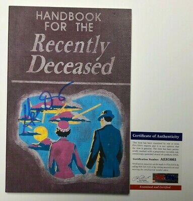 Geena Davis Signed 'Handbook For The Recently Deceased' Book PSA AE81665
