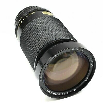 VIVITAR 28-210mm f/3.5-5.6 MC LENS FOR PENTAX K MOUNT