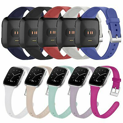 Ultra Slim Silicone Wristband Strap Bracelet for Fitbit Versa & Versa Lite Watch