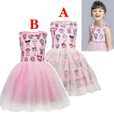 Girls For Lol Surprise Doll Princess Dress Party Pageant Tutu Hallowee Dress