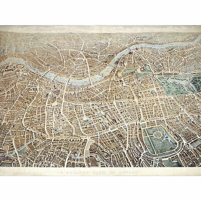 Effingham A Balloon View Of London As Seen From Hampstead XL Print Canvas Mural
