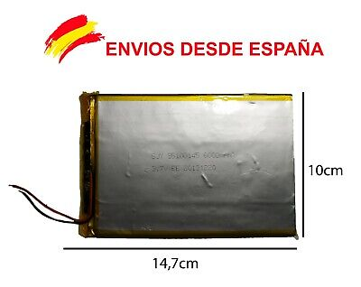 BATERIA TABLET,  6000 mAh 3.7 V SUNSTECH WOLDER UNUSUAL WOXTER SZENIO INGO CARRE
