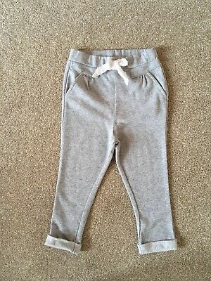 Grey R Mini Trousers Jogging Bottoms with Pockets Size 18-24 Months