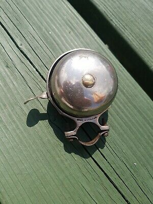 Vintage Jos Lucas No 32 double rotating  cycle Bell working, early plate
