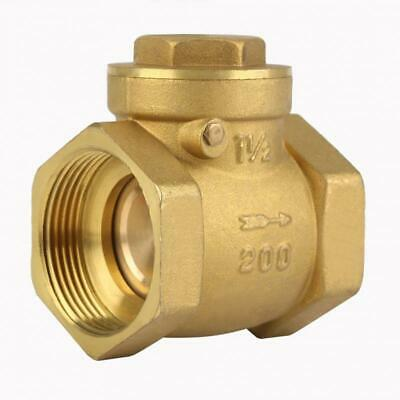 DN40 BSPP Female Thread Brass Swing Check Valve Prevent Water Backflow