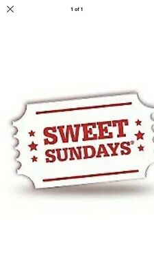Sweet Sunday cinema ticket Cineworld Cinema