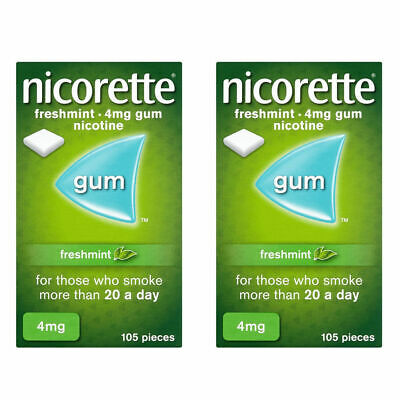 Nicorette 4mg Gum 210 Pieces - Freshmint - Long Expiry Date