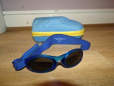Little Boys Designer Baby Banz Adjustable Sunglasses With Case Rrp £29.99