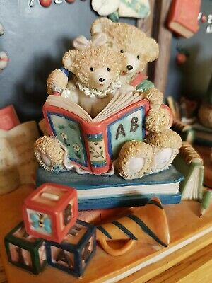 Teddy Bears Collection Childrens Nursery Bookends Quality Home Shelf Decor