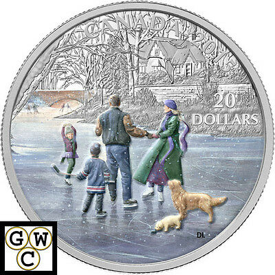 2015 'Ice Dancer' Colorized Proof $20 Silver Coin 1oz .9999 Fine  (14093)
