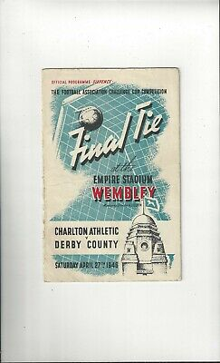 Charlton Athletic v Derby County FA Cup Final Football Programme 1946