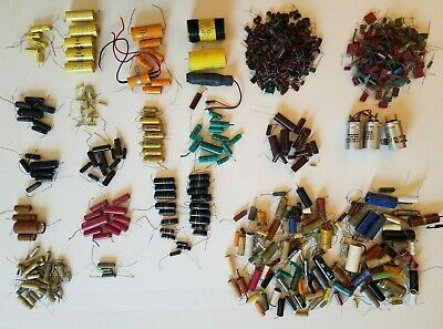 Huge Lot  Vintage Capacitors Bumblebee, Vitamin Q, Atom, Black Beauty, Tube Amps