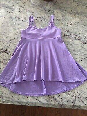 IVIVVA Lavender Strappy Cami Dance Tank Top Circle Mesh Girls 12 /Womens Size 2