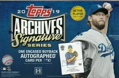 2019 Topps ARCHIVES Signature Series Active Player Baseball Box -  FREE SHIPPING