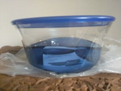 Tupperware Sheerly Elegant Bowl 9 1/2 cups/ 2.3 L Sapphire Blue ~ NEW!