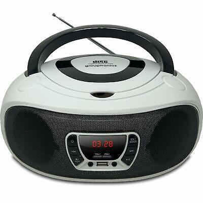 Boombox CD Player Portable GTCD-501 White Radio with USB, MP3 Player & AUX-IN