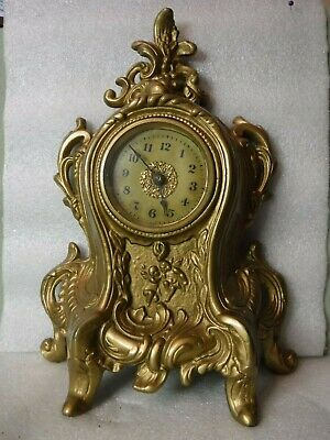 French Style Gold Gilt Mantle / Shelf Clock  GREAT Case, parts/ Repair