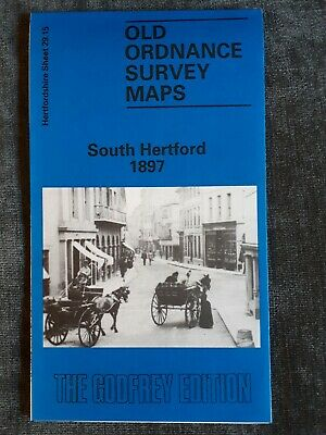 Old Ordnance Survey Map - South Hertford 1897 - Alan Godfrey Map