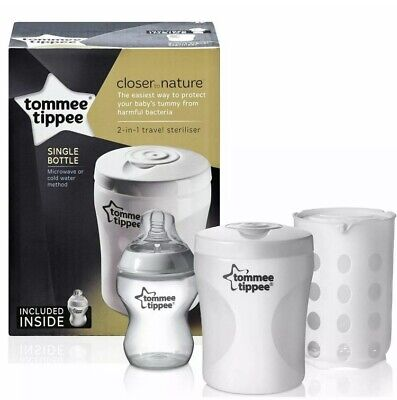 Tommee Tippee Closer To Nature 2 in 1 Travel Steriliser- Brand New
