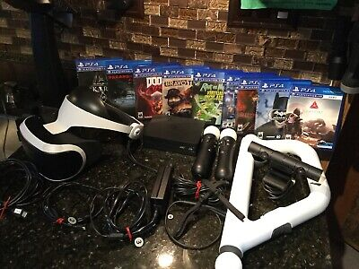 Sony PlayStation VR PS4 PSVR Bundle W/ 9 games and lots of extras!