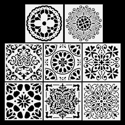 8pcs Painting Stencil Template Hollow Out Drawing Template Tools Diary Card DIY