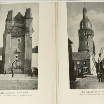 German Gates Towers 1920s Book w/60 architecture photos incl. Fountains Germany