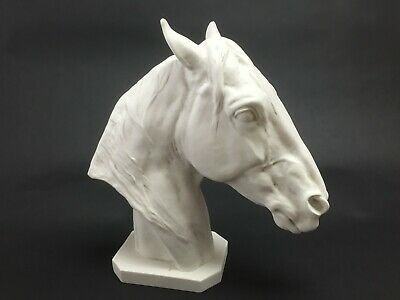 Thoroughbred Horse Head, Classical Marble Sculpture. Art, Gift, Ornament.