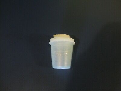 Vintage Tupperware Midget Pepper Container 101 & Lids 628 and 629 2 oz Dressing