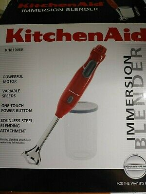 KitchenAid KHB100ER Hand Blender Empire Red Hand Held Mixer