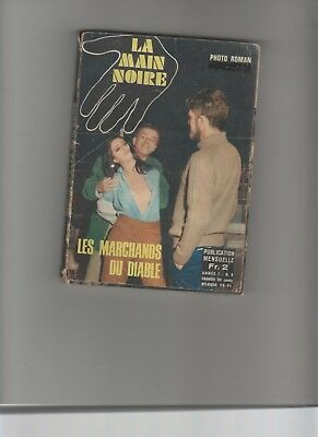 BD ROMAN PHOTO ADULTES  LA MAIN NOIRE N° 06  Les marchands du diable N.M.P.P.