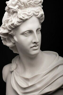 Marble Bust of Apollo, Greek God. Classical Sculpture, Gift, Art, Ornament