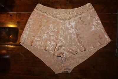 Vtg M&S Liquid Satin Poly &  Lace, French Knickers Panties Size 14-16