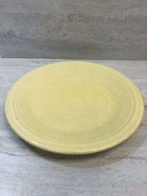 "Fiesta Homer Laughlin Sunflower Yellow 10.5"" Dinner Plate USED SEE PICS"