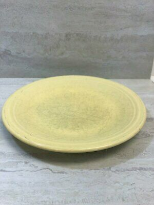 "Fiesta Homer Laughlin Sunflower Yellow 10.5"" Dinner Plate, USED Small Sand Bump"