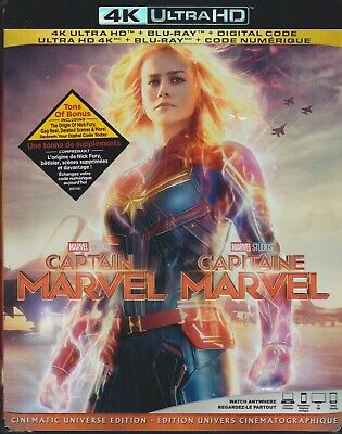 CAPTAIN MARVEL 4K ULTRA HD & BLURAY & DIGITAL SET with Brie Larson & Jude Law
