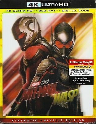 ANTMAN AND THE WASP 4K ULTRA HD & BLURAY & DIGITAL SET with Paul Rudd & Stan Lee